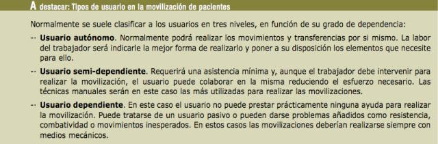 Ayuda en movilización de pacientes