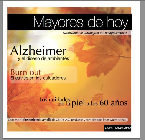 Revista para mayores de 60 años Mayores de Hoy