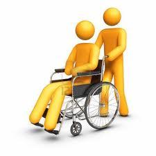 silla de ruedas y persona