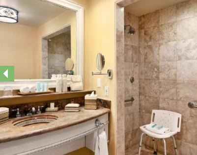 Baño accesible del Hilton los Cabos