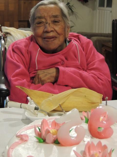 Raquel Flores Cuevas, una mujer mayor de HoyToluqueña, Mexicana mayor de 95 años