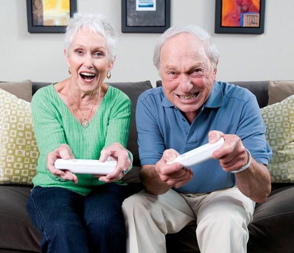 adultos mayores y videojuegos