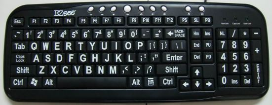 EZSee Keyboard teclado letras grandes