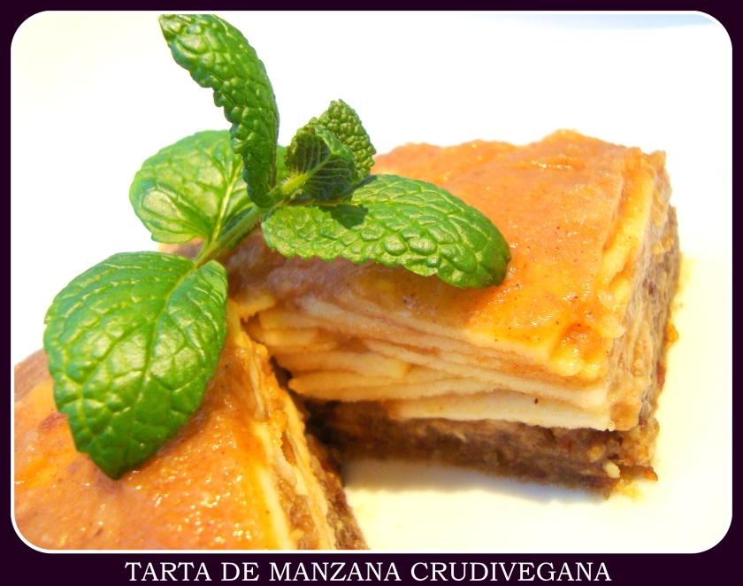 TARTA DE MANZANA CRUDIVEGANA