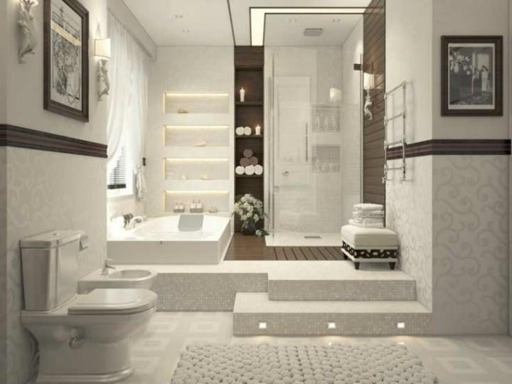 baño con escalones