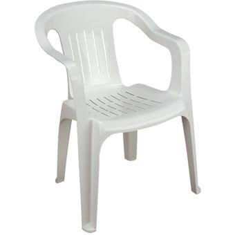 silla blanca de plástico