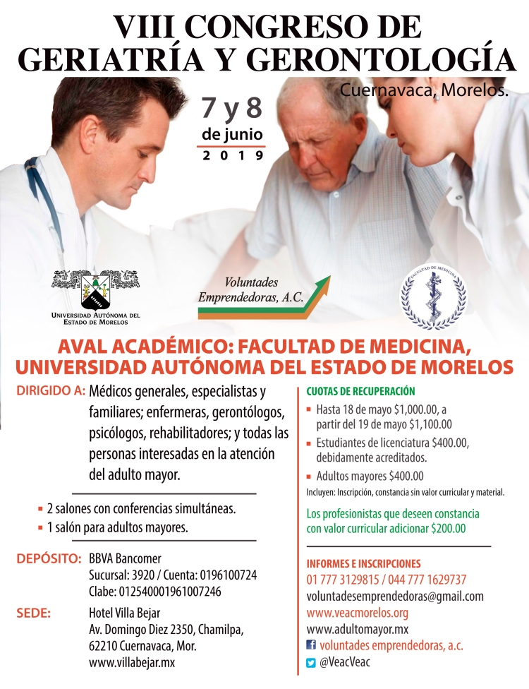 Congreso Geriatría y gerontología Cuernavaca