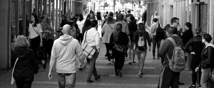 people crowd walking